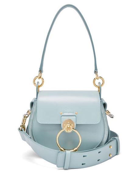 Chloé Chloé - Tess Small Leather Cross-body Bag - Womens - Blue