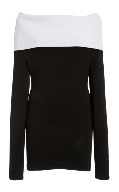 Proenza Schouler Two Tone Foldover Top in black