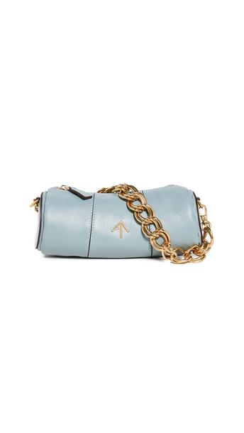 MANU Atelier XX Mini Cylinder Bag in blue / stone