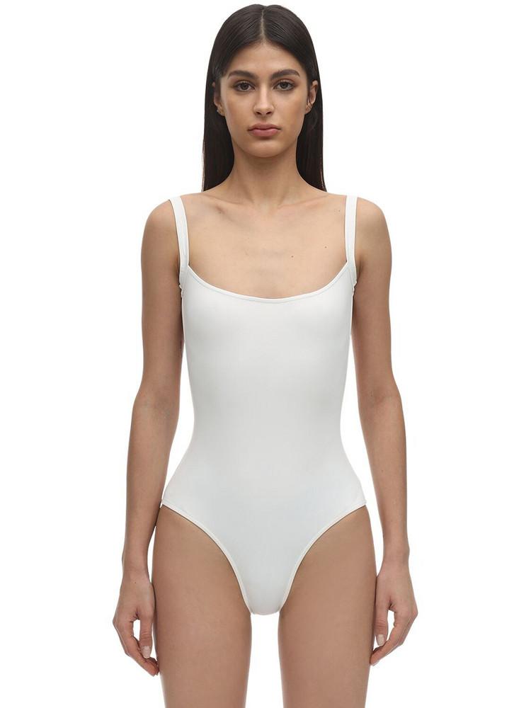 LAURA URBINATI Tilda Lycra One Piece Swimsuit in white