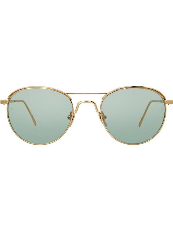 Linda Farrow 623 C6 oval sunglasses in metallic