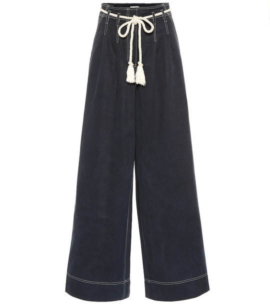 Ulla Johnson Soren high-rise wide-leg pants in blue