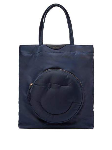Anya Hindmarch - Chubby Wink Nylon Tote Bag - Womens - Dark Blue