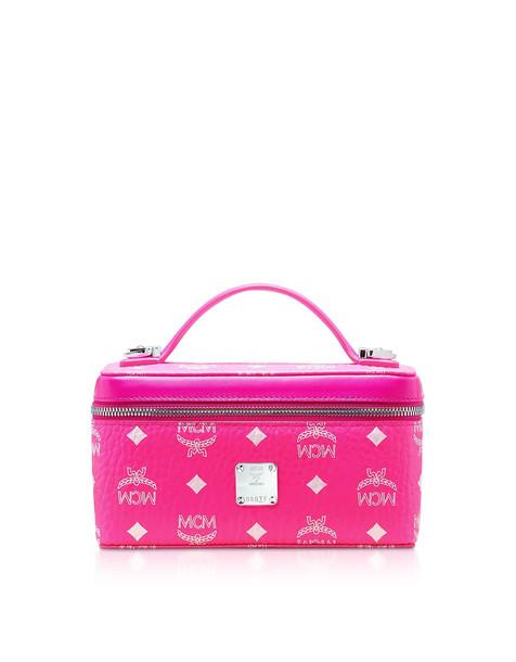 Mcm Visetos Original Clutch W/strap in pink