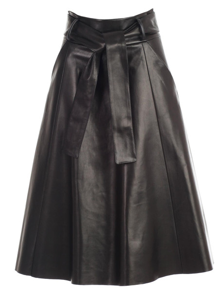 DROMe Skirt A Line Nappa in black