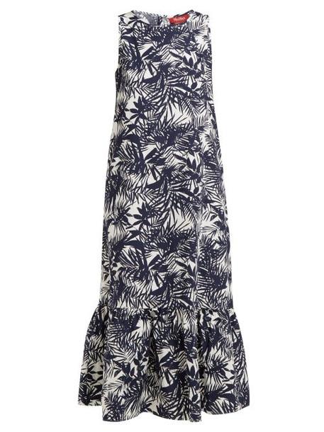 Max Mara Studio - Onice Dress - Womens - Navy White