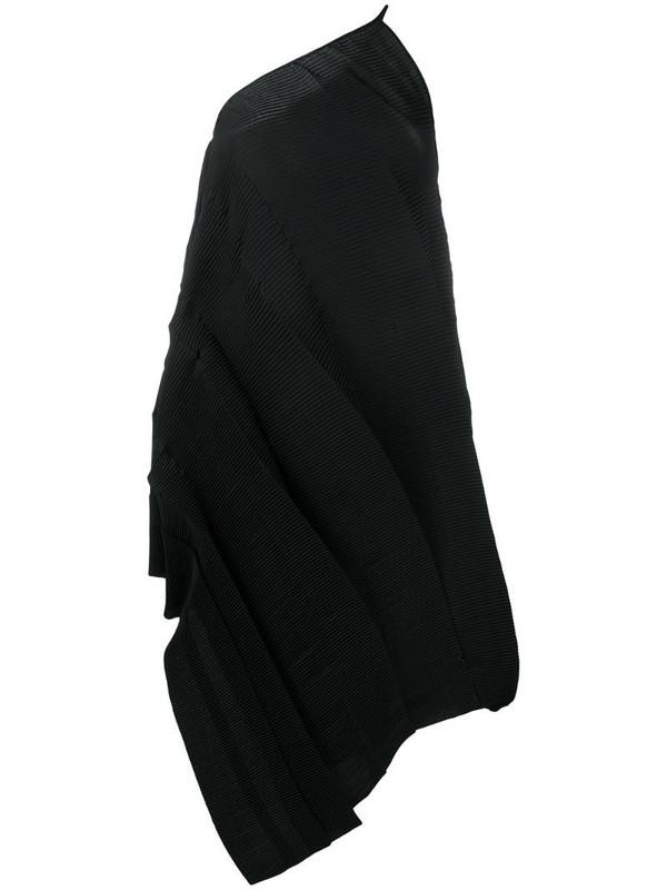 Aeron asymmetric mid-length dress in black