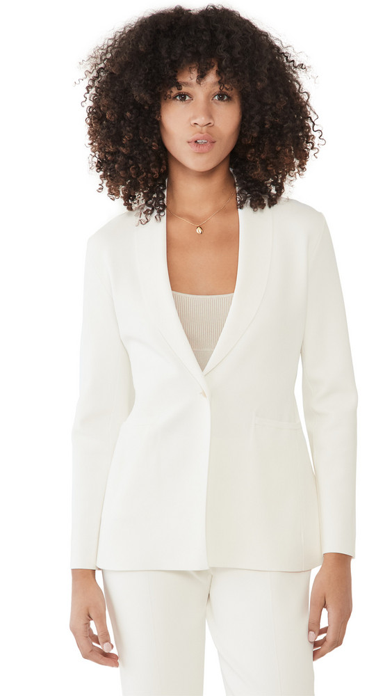 Theory Etiennette Knit Blazer in ivory