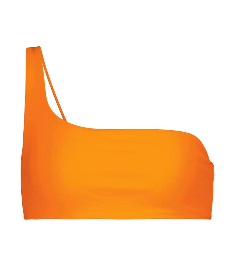 Jade Swim Apex one-shoulder bikini top in orange