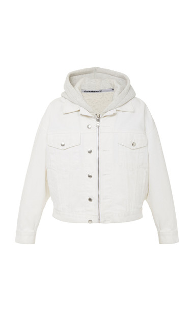 Alexander Wang Runway Game Cotton Hooded Jacket Size: XXS in white