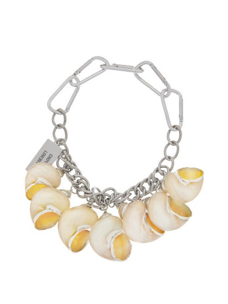 Chopova Lowena - Shell Charm Chain Choker Necklace - Womens - Silver