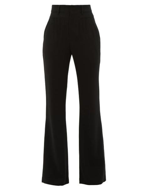 Altuzarra - Zeke High-rise Pintucked Crepe Tailored Trousers - Womens - Black