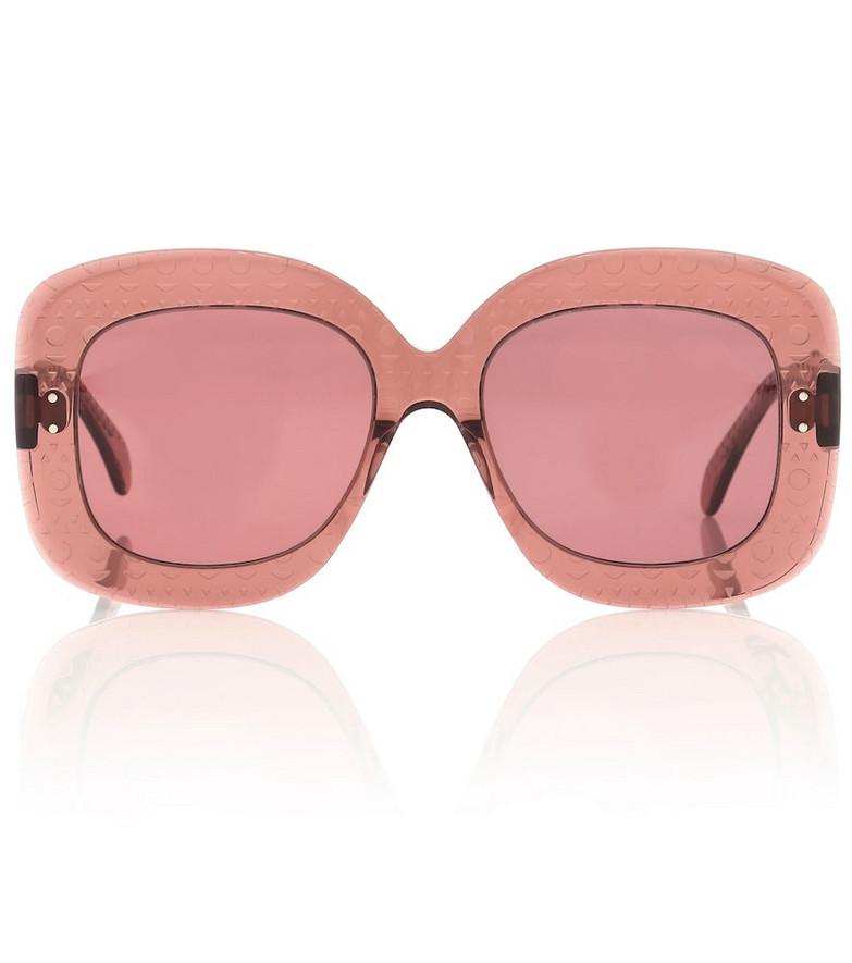 Alaïa Square sunglasses in pink