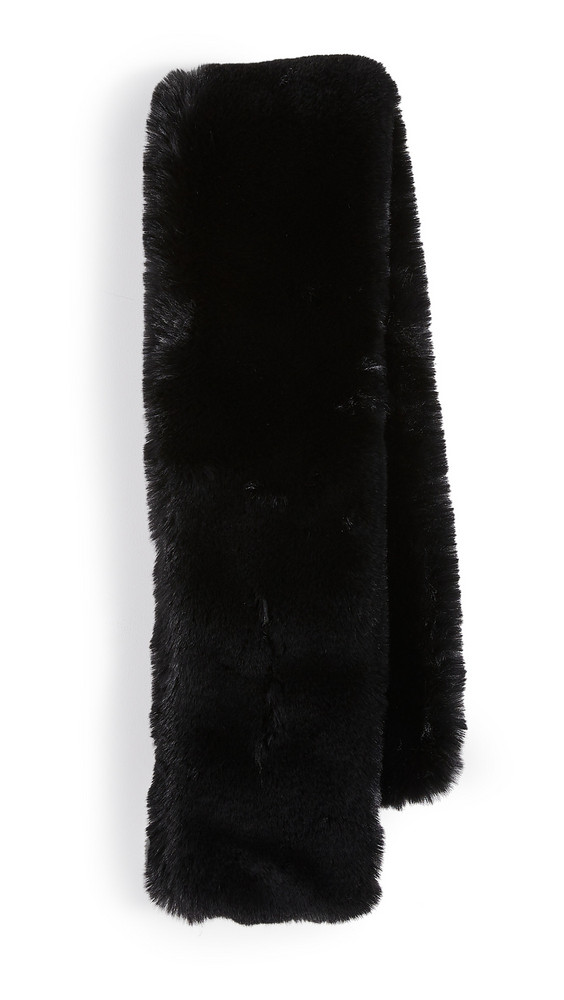 Adrienne Landau Faux Fur Scarf in black