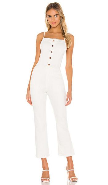 NSF Mavis Spaghetti Strap Jumpsuit in white