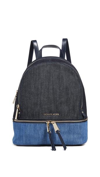 MICHAEL Michael Kors Rhea Zip Medium Backpack in denim / multi / denim