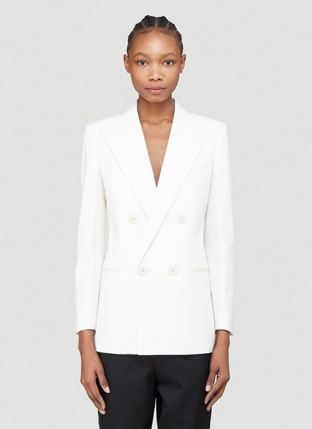 Saint Laurent Double Breasted Blazer in White size FR - 34