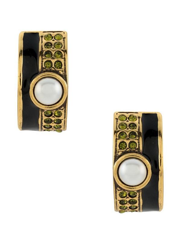 Camila Klein enamelled earrings in gold
