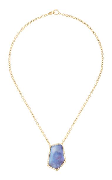 Sheryl Lowe 14K Gold, Opal And Diamond Necklace