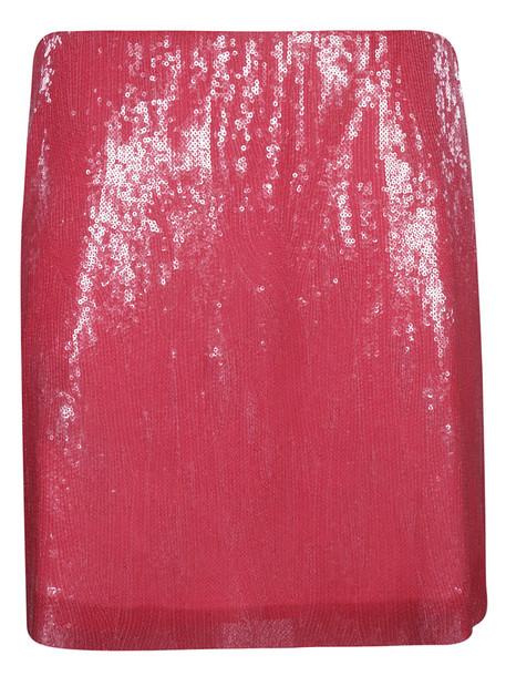 Alberta Ferretti Sequin Mini Skirt in fuchsia