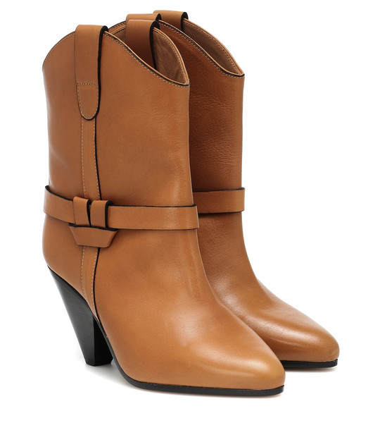 Isabel Marant Deane leather ankle boots in brown