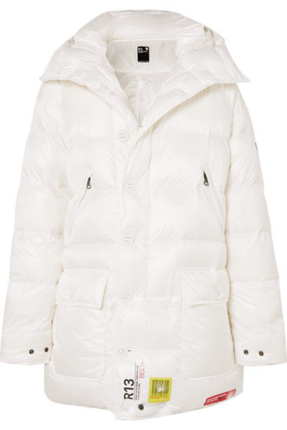 Brumal - R13 Hooded Quilted Shell Down Parka - White