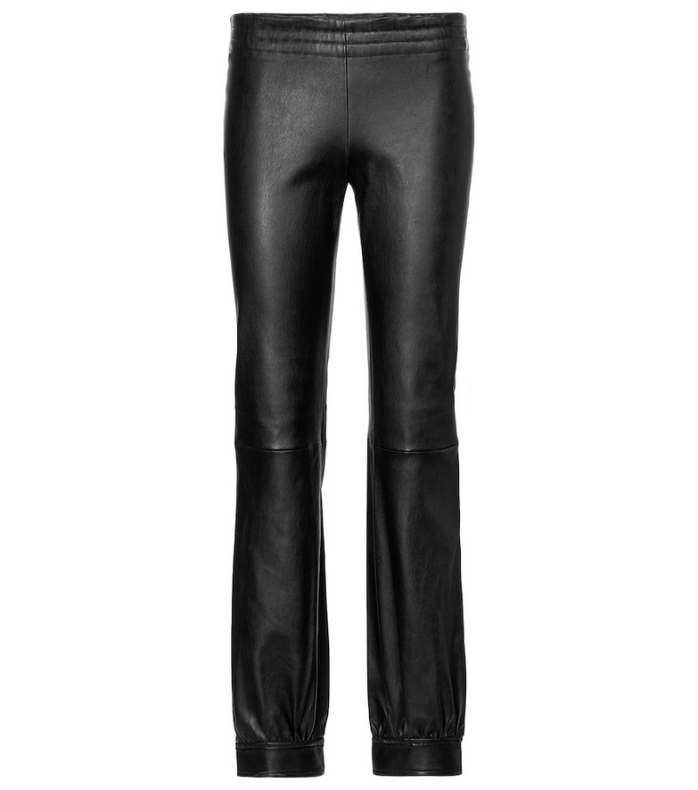 Stouls Massoud leather track pants in black