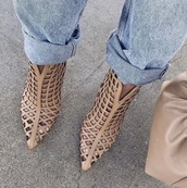shoes,cage pumps,high heel sandals,open booties