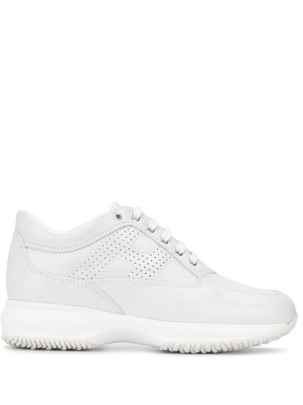 Hogan panelled sneakers in white