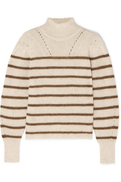 Isabel Marant Étoile - Georgia Striped High-neck Alpaca-blend Sweater - Ecru