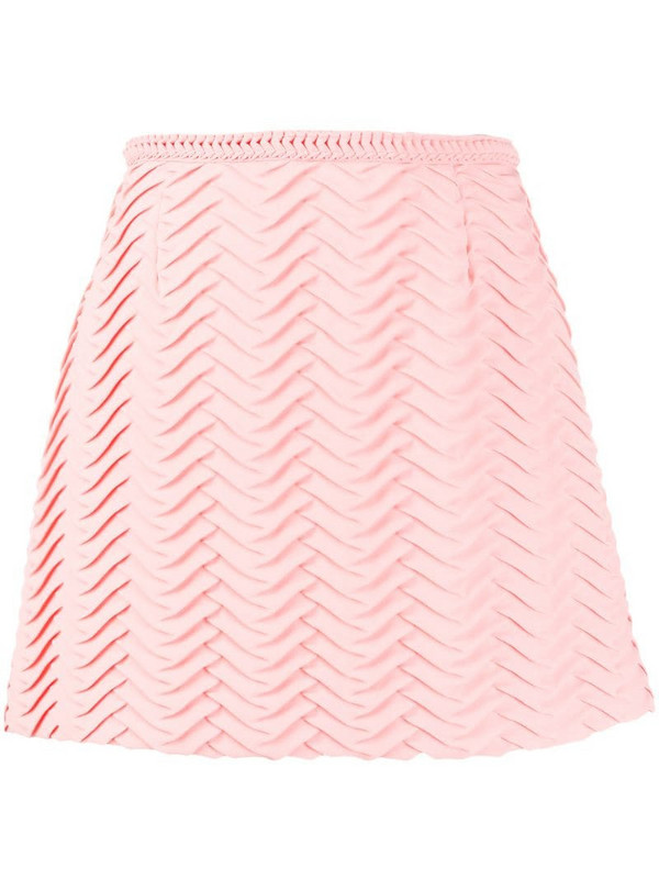 Marco De Vincenzo textured A-line skirt in pink