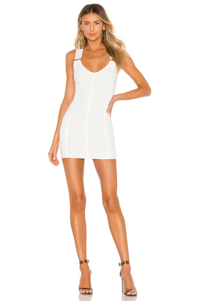 superdown Lina Mini Dress in white