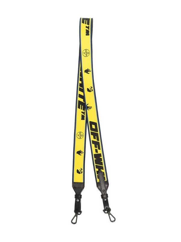 Off-White Industrial logo bag strap in yellow