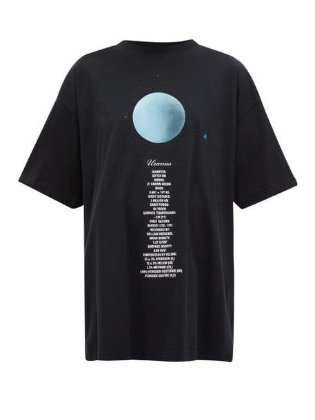 Vetements - Uranus Oversized Cotton Jersey T Shirt - Womens - Black Multi