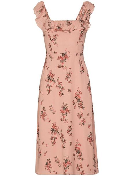 Reformation Colette floral-print midi dress in pink