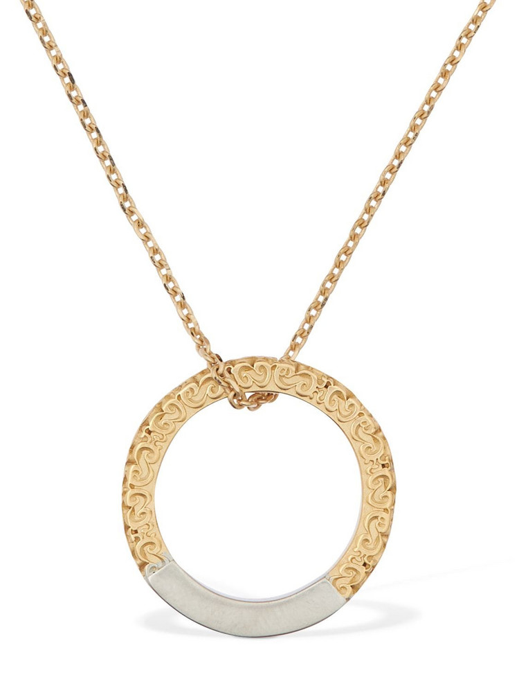 Maison Margiela Necklace W/two Tone Ring in gold / silver