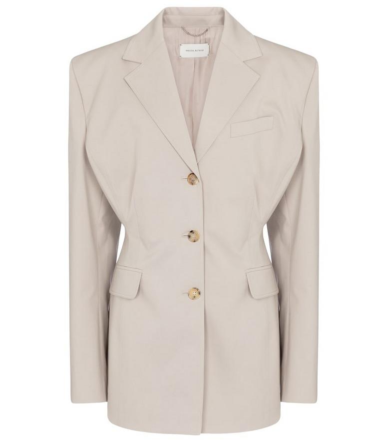 Magda Butrym Stretch-cotton blazer in grey