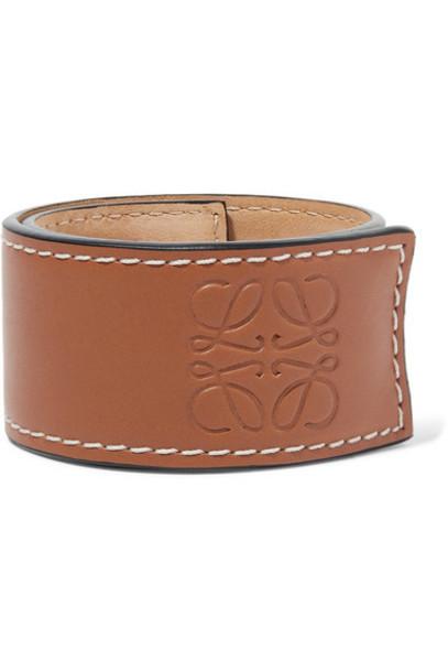 Loewe - Embossed Leather Bracelet - Tan