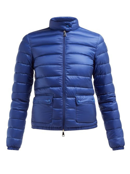 Moncler - Lans Quilted Down Filled Jacket - Womens - Blue