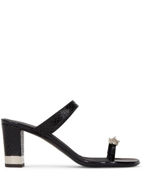 Giuseppe Zanotti block heel sandals in black