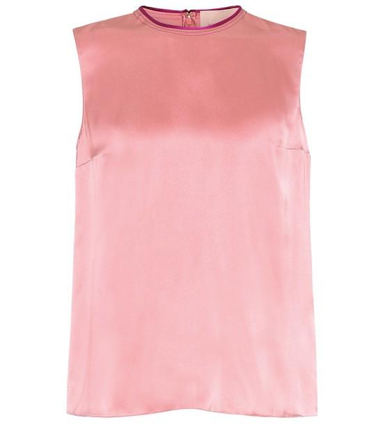 Roksanda Silk-satin top in pink