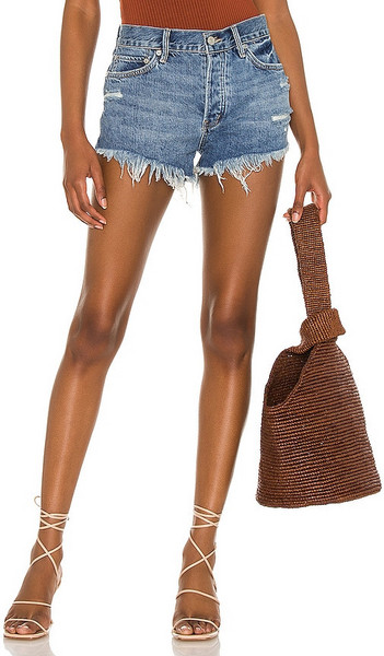 Free People Loving Good Vibrations Shorts in Blue in indigo