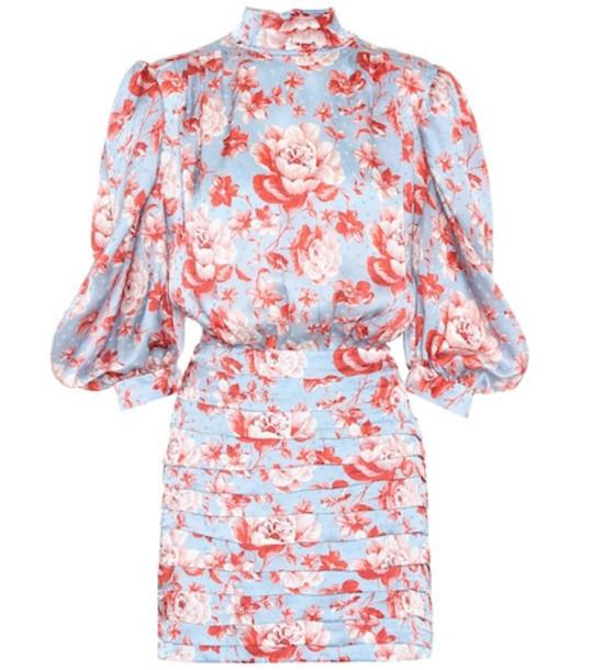 Magda Butrym Setubal floral silk minidress in blue