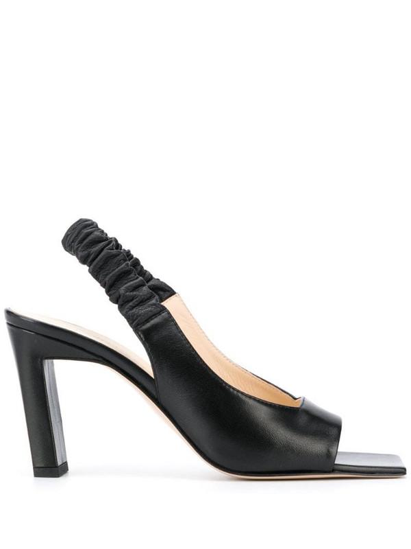 Wandler block heel sandals in black