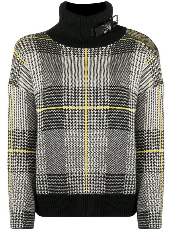 Patrizia Pepe check high-neck jumper in black