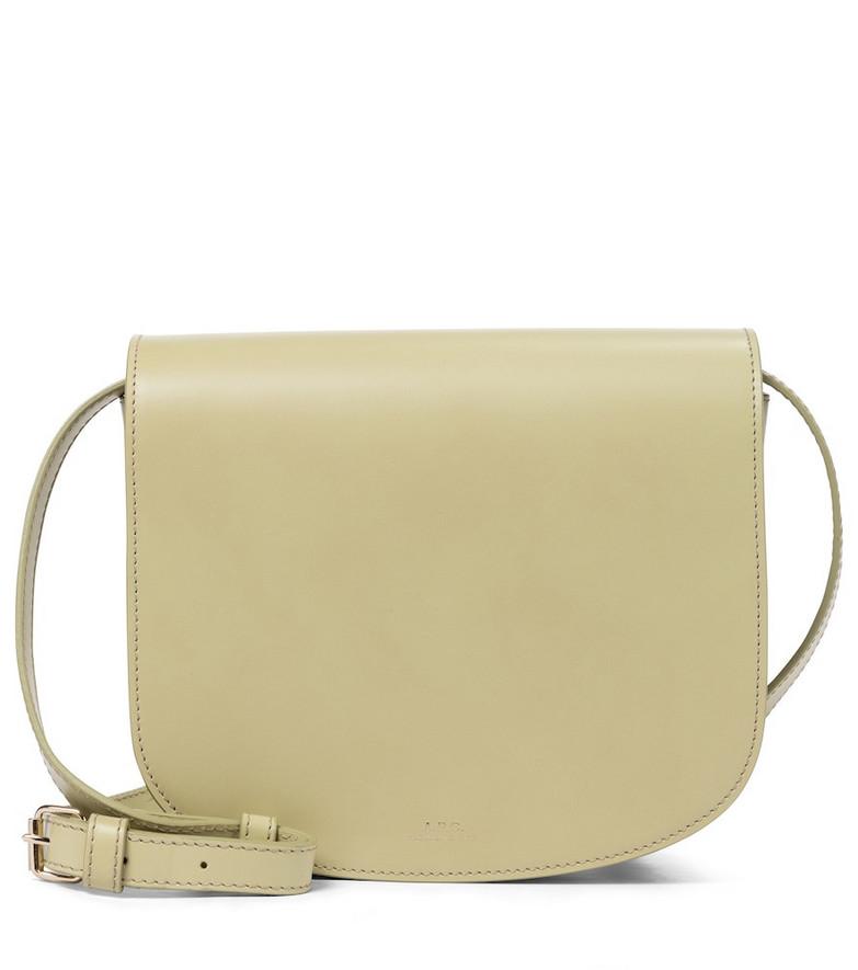 A.P.C. Dina leather shoulder bag in green