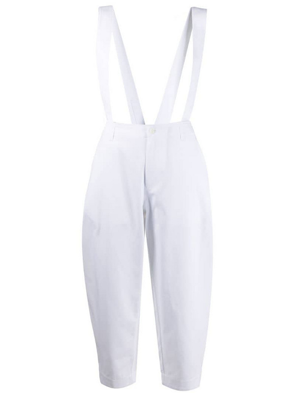 Jejia cropped trousers with suspenders in white