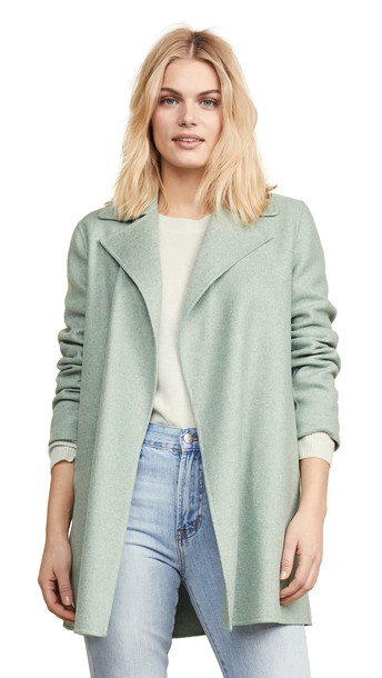 Theory Overlay Coat in green