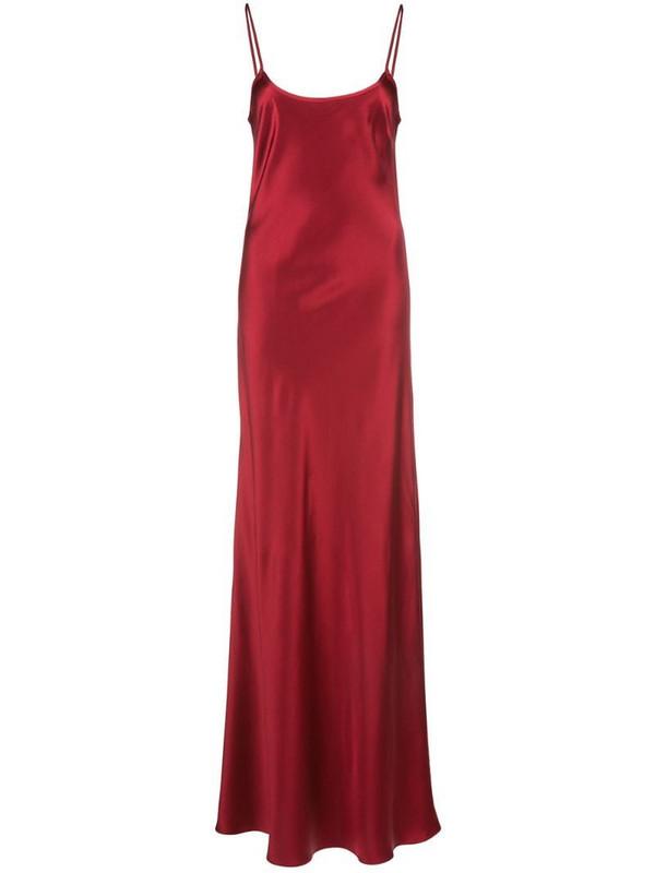 VOZ bias cut slip dress in red