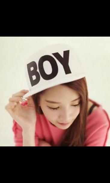 hat cap boy cute kpop korean style white swag swag
